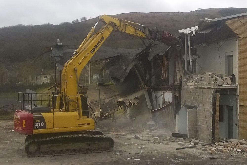 Demolishing structure